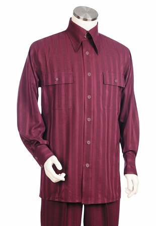 Canto Big and Tall Long Sleeve Tech Stripe Walking Suits 875 - click to enlarge