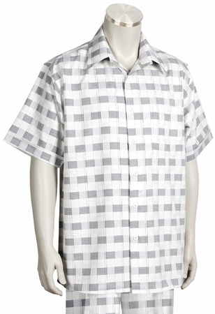 Canto Big and Tall Short Sleeve Checker Pattern Set 694 - click to enlarge