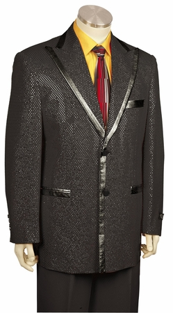 Canto Black Flashy Entertainer Suit 8169 - click to enlarge