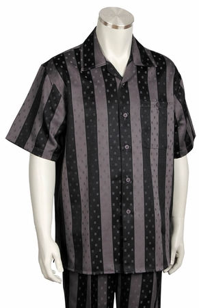 Canto Bold 2 Tone Stripe Short Sleeve Walking Sets 691 - click to enlarge