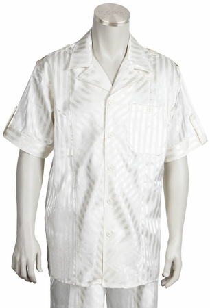 Canto Cream Stripe Outfit 695 Size L Final Sale - click to enlarge