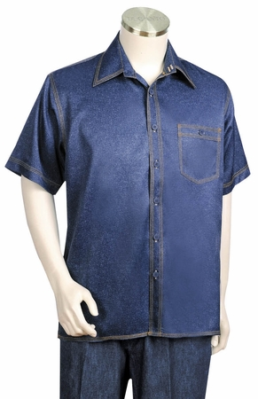 Canto Denim Style Short Sleeve Walking Suits 684 - click to enlarge