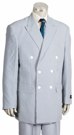 Canto Double Breasted Style  Mens Seersucker Suits 8356 - click to enlarge