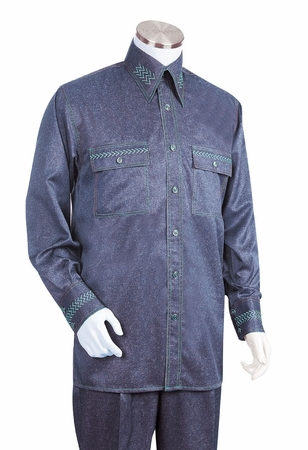 Canto Fancy Stitch Design Mens Walking Suits Fashionable 870 - click to enlarge