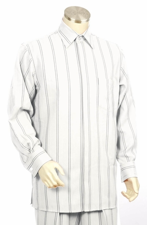 Canto Long Sleeve Double Stripe French Cuff Walking Suits 862 - click to enlarge
