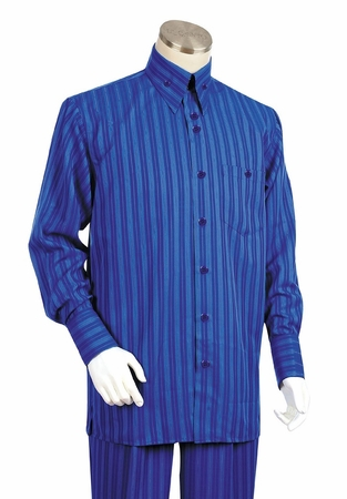 Canto Mens Bold Shadow Stripe Long Sleeve Outfit 880 - click to enlarge