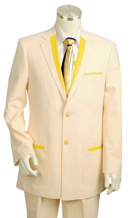 Canto Mens Fancy Trim Fashion Seersucker Suits 8342 - click to enlarge