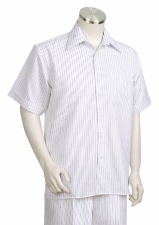 Canto Classic Pinstripe Short Sleeve Walking Suits 685 - click to enlarge