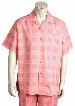 Canto Short Sleeve Walking Sets Fancy Square Pattern 690 - click to enlarge