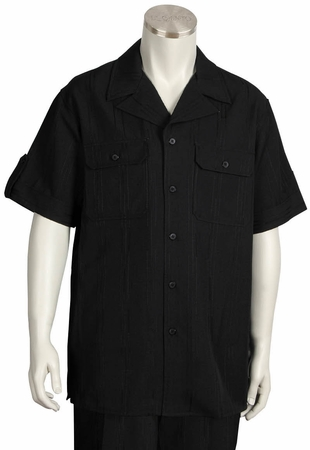 Canto Walking Suits Wide Leg Mens Short Sleeve Double Pocket 692 - click to enlarge