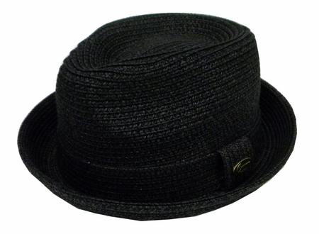 Capas Men's Black Stingy Brim Summer Hat Traveler - click to enlarge