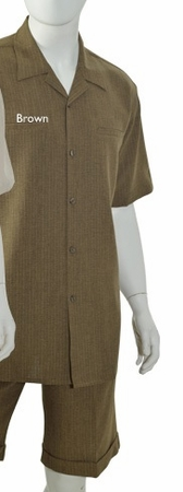 Christi Mens Heather Brown Casual Fashion Short Set 41401 - click to enlarge