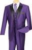 Vinci Mens Shiny Purple 3 Piece Tuxedo Entertainer 23TX-1 Size 42 Reg Final Sale htm fal