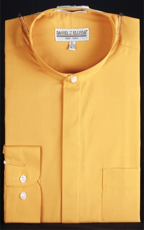 Daniel Ellissa Mens Gold Banded Collar Dress Shirt DS3001C - click to enlarge