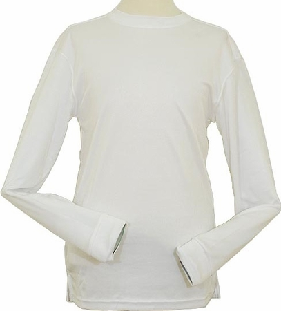 Daniel Ellissa Mens White Shiny Mock Neck Shirt TS 08 - click to enlarge
