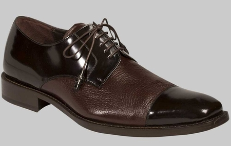 Mezlan Soka Genuine Brown Deerskin Cap Toe Oxford Shoe - click to enlarge
