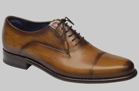 Mezlan Mens Honey Calfskin Burnished Cap Toe Helios