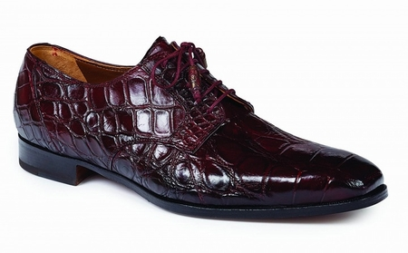 Mauri Italy Mens Alligator Shoes Ruby Red Palladio 1059 - click to enlarge