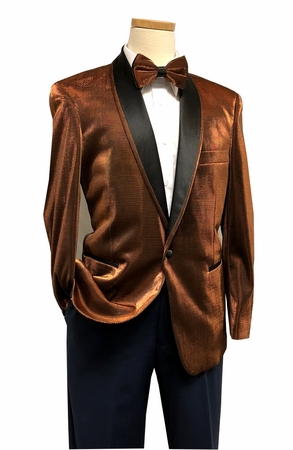 Dinner Jacket for Men Metallic Rust Bow Tie Blu Martini Park 5876 IS - click to enlarge