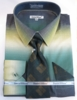 Mens Dress Shirts with Ties Trendy Moss Green Color Blend DE DS3795