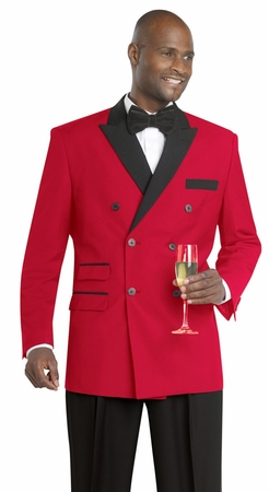 EJ Samuel Red Black Double Breasted Evening Suit M2641 - click to enlarge