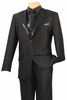 Vinci Mens Black Sequin Vest Evening Style Suit 23SQ-1