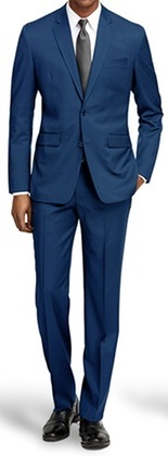 Extra Slim Fit Suits Men's Indigo Blue 2 Button Tight Fitted US900-1
