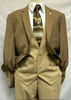 Falcone 4 Piece Tan Luck Trevo Mini Check Fashion Suits 5024-024 IS