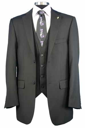 Falcone Mens Big Size Fashion Dress Suit Burt Vested 3420 - click to enlarge