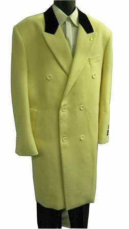 Falcone Mens Cream Velvet Collar Chesterfield Wool Overcoat 4150-006 - click to enlarge