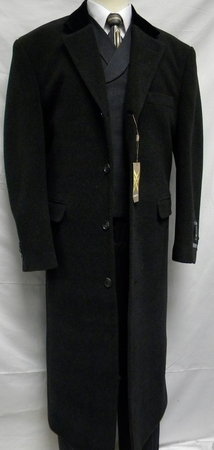 Xxiotti Mens Charcoal Chesterfield Cashmere Blend Overcoat Berlino 77015 - click to enlarge