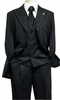 Falcone Mens Black Gangster Stripe Square Vested 1920s Suit 3580-000 htm