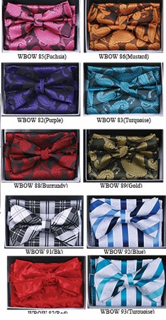 Fancy Matching Bow Tie Sets WBOW-7 - click to enlarge