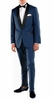 Ferrecci Slim Fit Tuxedo for Men Indigo Blue Shawl Collar Falls