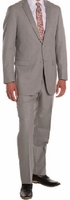 Ferrecci Mens Suits 2 Piece  Light Grey Flat Front Pants Regular Fit Ford