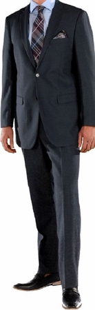 Ferrecci Mens Suits Navy Regular Fit Flat Front Pants 2 Button Ford - click to enlarge
