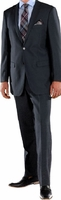 Ferrecci Mens Suits Navy Regular Fit Flat Front Pants 2 Button Ford