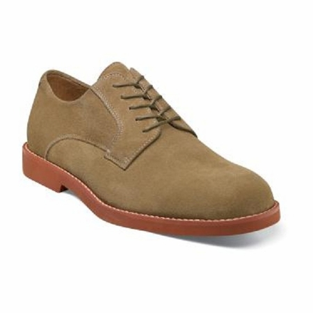 Florsheim Kearny Mens Taupe Suede Oxford Shoes 12054-260 - click to enlarge