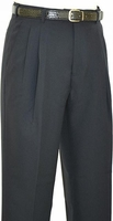 Fratello Mens Black Pleated Dress Pants DPR-108