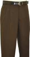 Fratello Mens Brown Pleated Dress Pants DPR-108