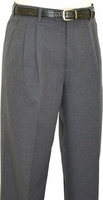 Fratello Mens Gray Pleated Dress Pants DPR-108