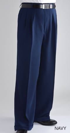Fratello Slacks Mens Wide Leg Dress Pants Navy DP-106 - click to enlarge