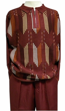 Stacy Adams Mens Red Polo Sweater and Pants Outfit 8338 - click to enlarge