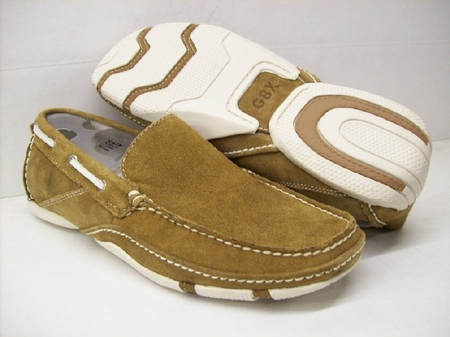 GBX Mens Brown Suede Casual Moccasin Driving Shoes 131304 IS - click to enlarge