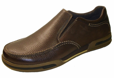 Gbx Mens New Brown Leather Casual Loafers 131722  - click to enlarge
