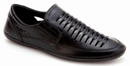 Mens Summer Casual Shoes by Montique Black S18 - click to enlarge