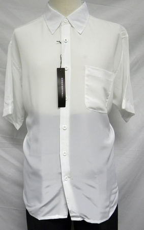 Giogio Mens Solid Cream Short Sleeve Casual Shirt 439 - click to enlarge