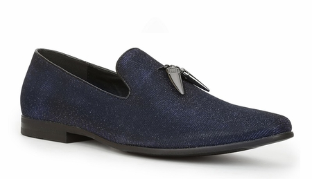 Giorgio Brutini Blue Sparkle Shark Tooth Smoking Loafer Shoes 179171-3 - click to enlarge