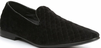 Giorgio Brutini Black Quilted Fashion Smoking Slippers 176271