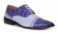Giorgio Brutini Shoes Mens Purple Alligator Texture Lace Up 2 11047-2 IS